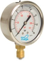 "Manometer 63 mm 0-1 bar 1/4"" hinten"
